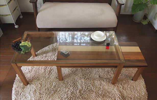 ネストテーブル コーヒーテーブル 2点セット テーブル センターテーブル パソコンデスク ローボード パソコンデスク(代引不可)【送料無料】