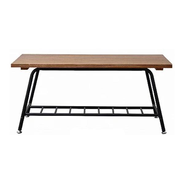 アンティーク センターテーブル ローテーブル木製 リビングテーブル パイプ テーブル アンティーク調 桐 木製(代引不可)【送料無料】