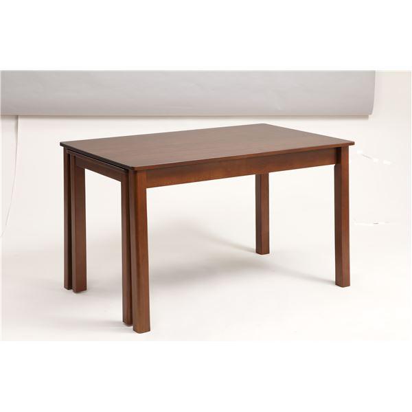 伸長式ダイニングテーブル/エクステンションテーブル 【幅120~200cm】 木製 インナーキャスター仕様 『シオン』