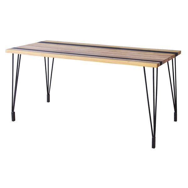 ダイニングテーブル(天然木/アイアン) LEIGHTON(レイトン) ナチュラルミックス NW-114NA