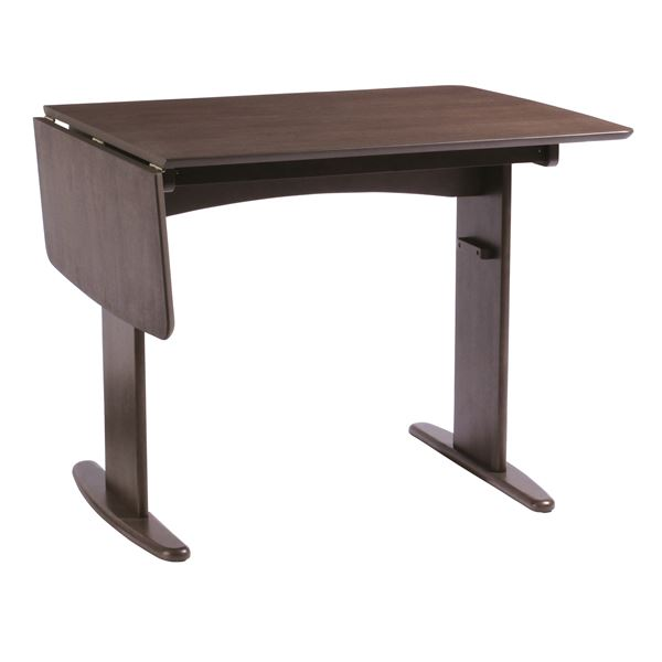 伸長式ダイニングテーブル/バタフライテーブル 【幅90cm/120cm】 木製 スライドタイプ 『バター』 ブラウン【送料無料】