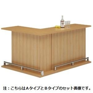 バーカウンター/カウンターテーブル 【A-type 単品】 幅120cm 日本製 ナチュラル 【完成品】【開梱設置】【代引不可】