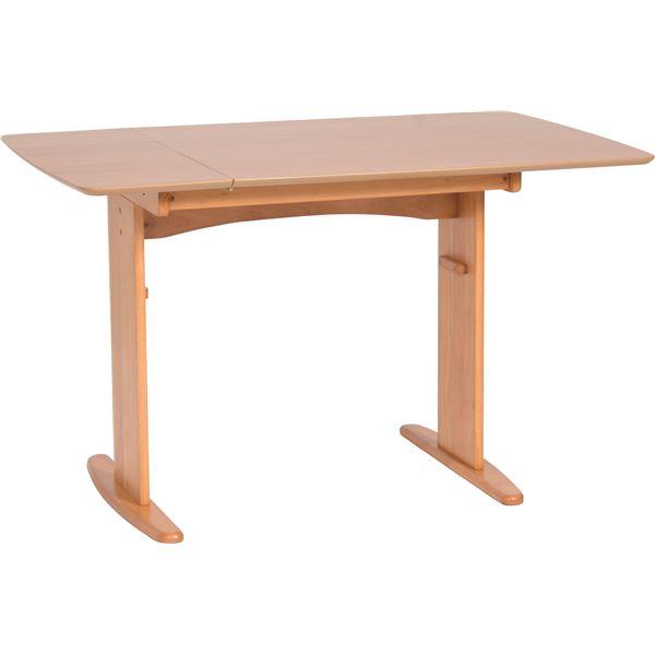伸長式ダイニングテーブル/バタフライテーブル 【幅90cm/120cm】 木製 スライドタイプ 『バター』 ナチュラル【送料無料】