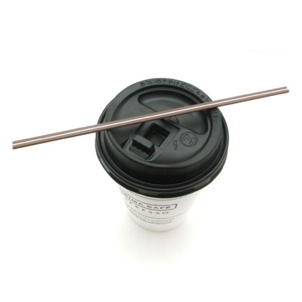 オリジナル ホットコーヒーを飲むストローが遂に上陸 ホットコーヒー用マドラーストロー 18cmチョコカラー 1000本入り 激安挑戦中