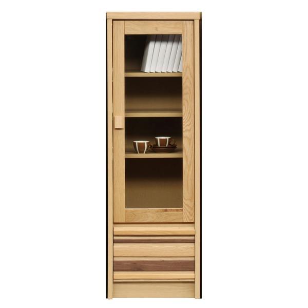 キャビネット/リビングボード(左/右開き共通扉) 【幅40cm】 木製(天然木/オーク材使用) フルスライドレール付き 【完成品】【代引不可】