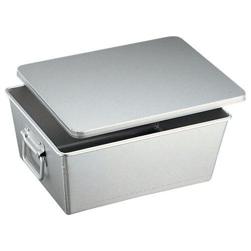 送料無料 往復送料無料 オオイ金属 アルマイト 溶接給食用パン箱 蓋付 260-B 大好評です APV21 20個入