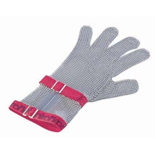 ニロフレックス メッシュ手袋5本指 M C-M5赤 ショートカフ付 STB6802【送料無料】
