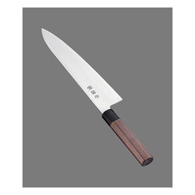 河村刃物 堺菊守 和式 牛刀(両刃)紫檀柄 24cm [AKKA502]【送料無料】