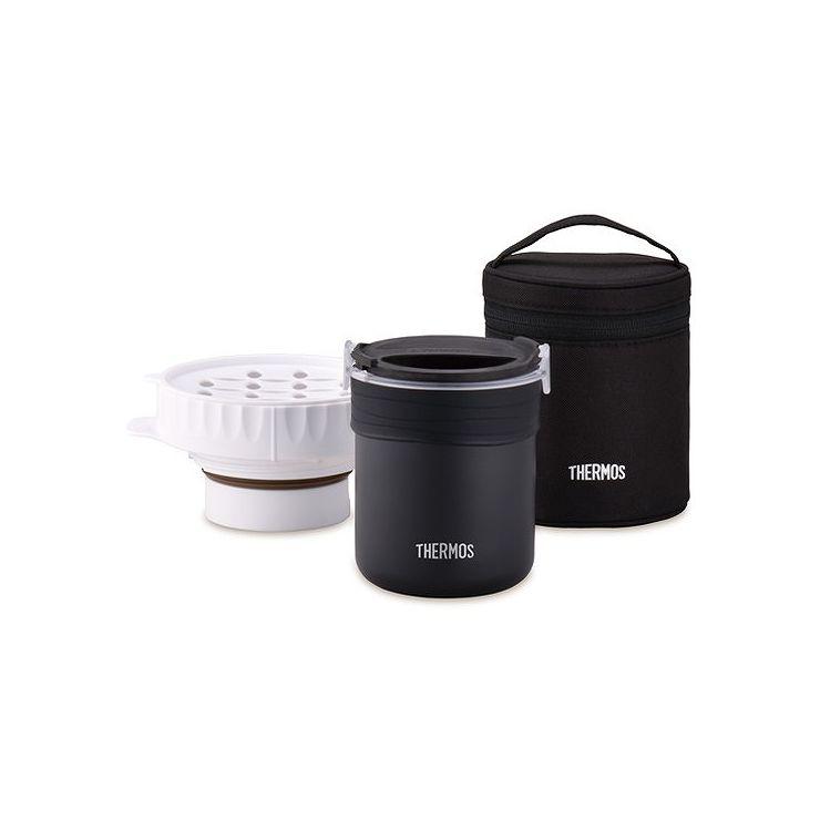 送料無料 サーモス オンラインショップ THERMOS 買い物 ごはんが炊ける弁当箱 JBS-360 BK ご飯 炊ける 弁当 レンジ 弁当箱 ランチ 学校 オフィス 会社 専用ポーチ 簡単