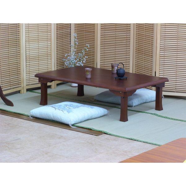 折りたたみ角座卓 座卓 120×75cm テーブル リビングテーブル 折れ脚テーブル ローテーブル(代引不可)【送料無料】