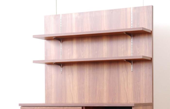 【MONT/モント】 バックパネル 幅120cm 収納 キッチンラック 木製 幅120 2段 キッチン 収納 棚 ラック(代引不可)【送料無料】