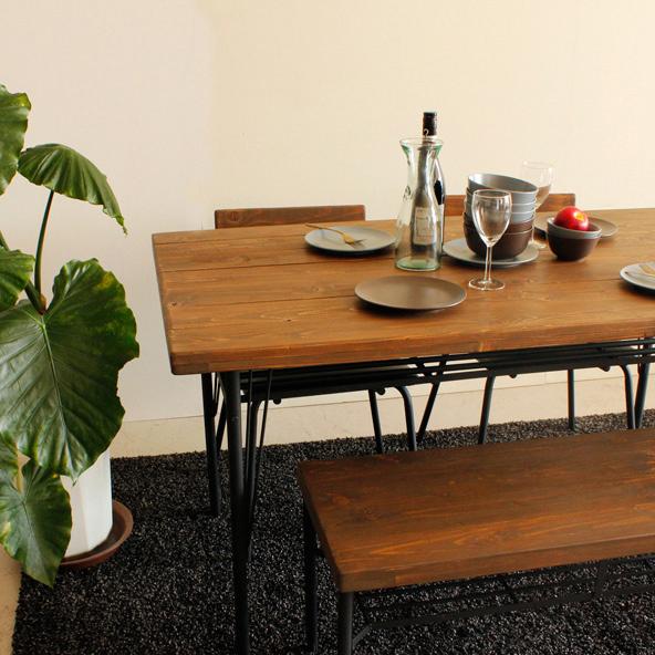 ダイニング テーブル 無垢 アンティーク レトロ ビンテージ 北欧 シンプルモダン 【KELT】 ケルト ダイニングテーブル 140(代引不可)【送料無料】