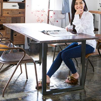 ソリッドダイニングテーブル Lサイズ 180cm Solid Dining Table ローズウッド 無垢材 TIMELESS CRAFT(代引不可)【送料無料】