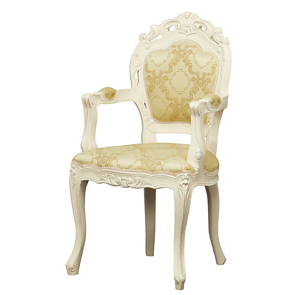 椅子 チェア フランシスカチェアー 肘付 ホワイト(代引き不可)【送料無料】