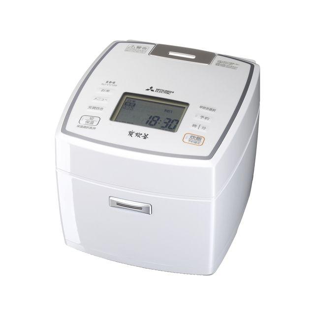 炭炊釜 三菱電機 炊飯ジャー【送料無料】 5.5合 ピュアホワイト IH NJ-VV109-W IH炊飯器