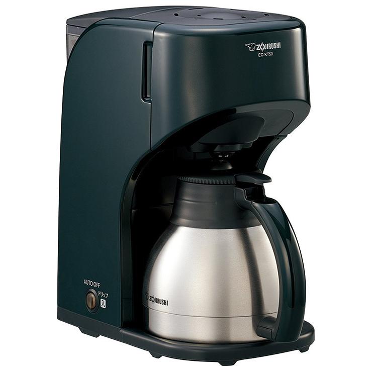 象印 コーヒーメーカー 5杯 EC-KT50-GD ダークグリーン【送料無料】