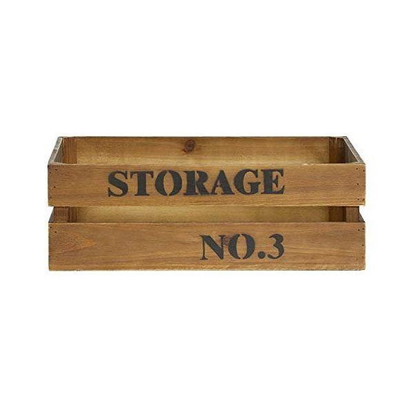 ベストコ モデル着用&注目アイテム 新作通販 収納ボックス L オーク No.3 ヴィンテージ ウッドボックス ND-9233