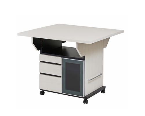 バタフライカウンターテーブル 幅89.5cm ウォッシュホワイト色(代引不可)【送料無料】