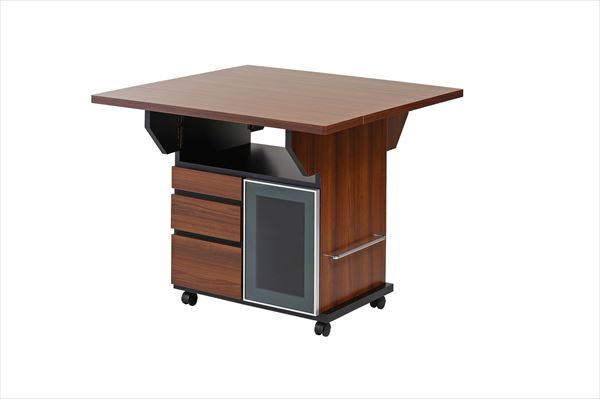 バタフライカウンターテーブル 幅89.5cm チェリーブラウン色(代引不可)【送料無料】