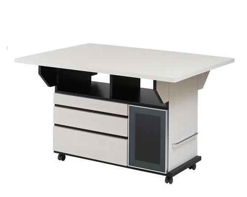 バタフライカウンターテーブル 幅119.5cm ホワイトウォッシュ色(代引不可)【送料無料】