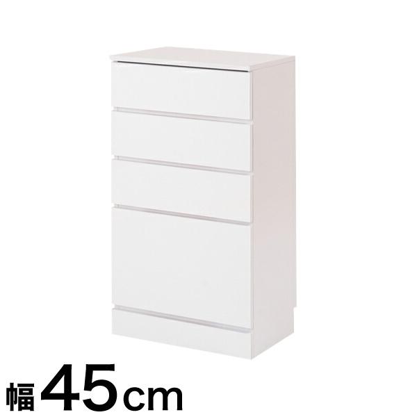 キッチンシリーズFace カウンター下収納 チェスト 幅45 ホワイト(代引不可)【送料無料】