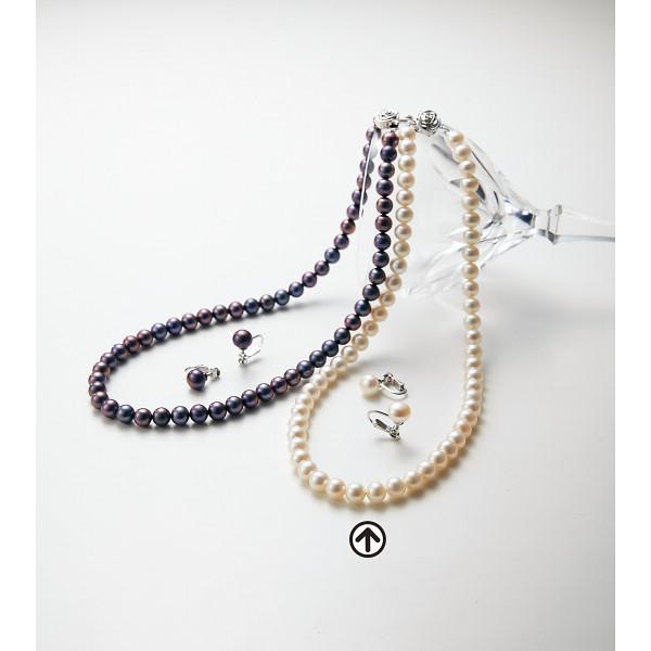 淡水真珠ネックレスセット ホワイト 装身具 アクセサリー アクセサリーセット BFN-1856SET(WH)(代引不可)【送料無料】