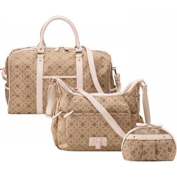 クレアトラベラー トラベル3点セット(ボストン ショルダー ポーチ) ゴールド アパレル 婦人小物 バッグ CR20725-G(代引不可)【送料無料】
