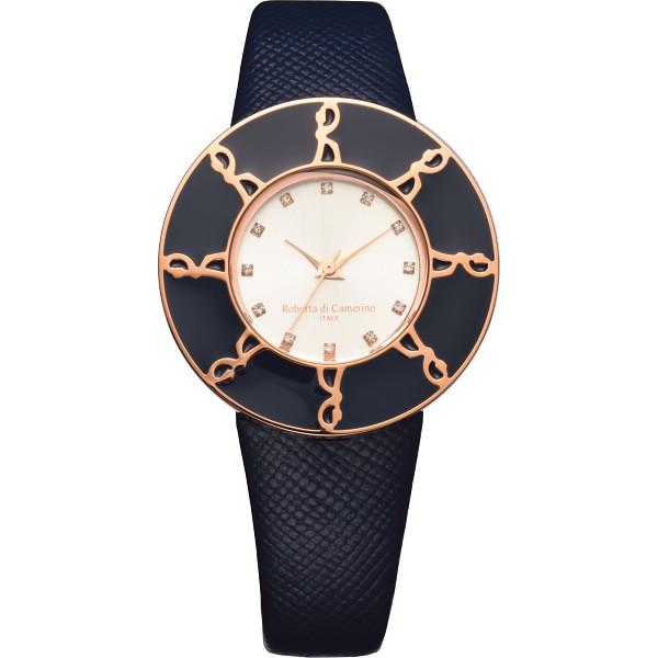 ロベルタディカメリー ロベルタディカメリー ラウンドロゴ腕時計 ネイビー TAVOLOZZA 装身具 婦人装身品 婦人腕時計 RC7743-18NY(代引不可)【送料無料】