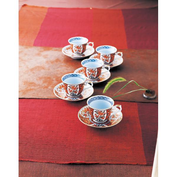 古伊万里写し 珈琲碗皿5客揃 和陶器 和陶コーヒー 5客コーヒー(代引不可)【送料無料】