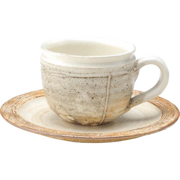 信楽焼 粉引 コーヒー碗皿5客揃 和陶器 和陶コーヒー 5客コーヒー G5‐2615s(代引不可)【送料無料】
