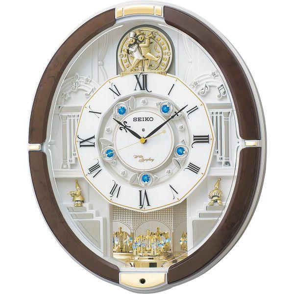 セイコー 電波からくり掛時計(40曲入) 室内装飾品 掛け時計 からくり時計 RE575B(代引不可)【送料無料】