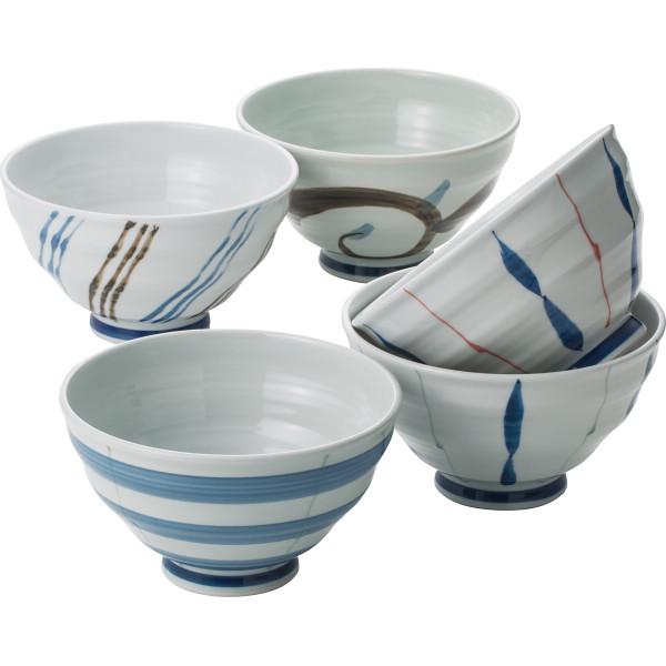 有田焼 絵変り 茶漬5客揃 和陶器 和陶茶碗 5客茶碗 569084(代引不可)