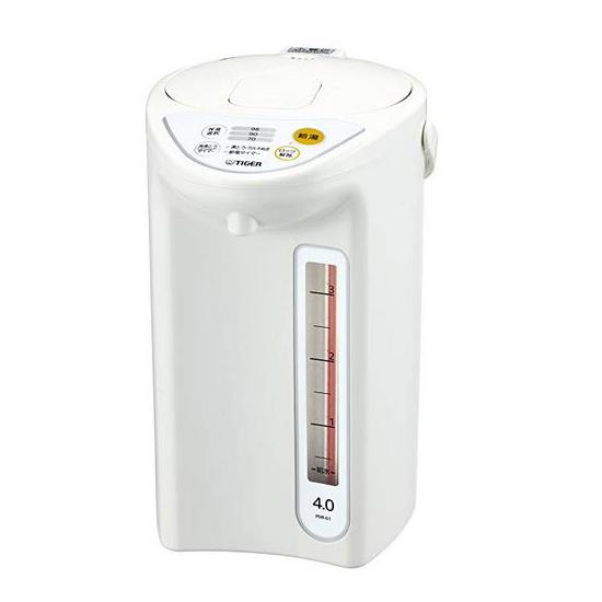 蔵 送料無料 タイガー魔法瓶 マイコン電動ポット 4.0L ポット 電気ポット 湯沸し PDR-G401-W 年末年始大決算