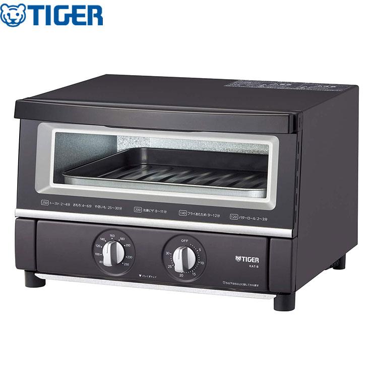 日本製 送料無料 新作製品 世界最高品質人気 タイガー魔法瓶 オーブントースター やきたて トースター W断熱ガラス KAT-B130KM