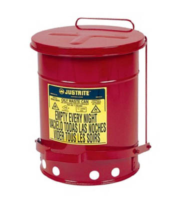 ジャストライト オイリーウエスト缶 6ガロン【J09100】(清掃用品・ゴミ箱)