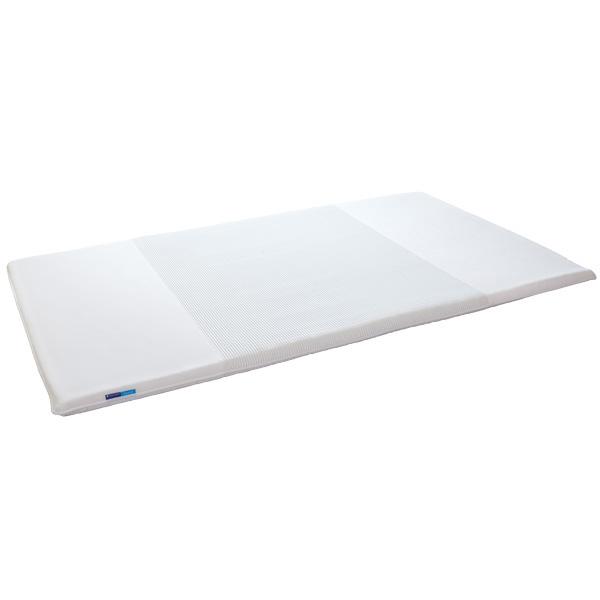 キュービックボディ ホワイト セミダブル PT-200WH 快眠 軽量 折畳可 3つ折り マットレス 高反発 ボディープレミアム ゼンケン(代引不可)【送料無料】