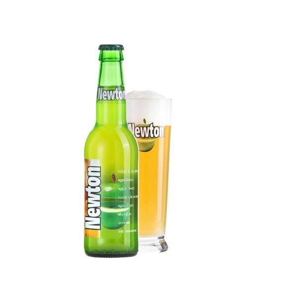 ニュートン 青リンゴビール 330ml×24本入り【ケース売り】 発泡酒 ベルギー【送料無料】