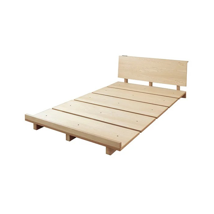 ベッド セミダブル フレーム 天然木モダンステージベッド VEGAベガ フレームのみ セミダブル(代引不可)【送料無料】