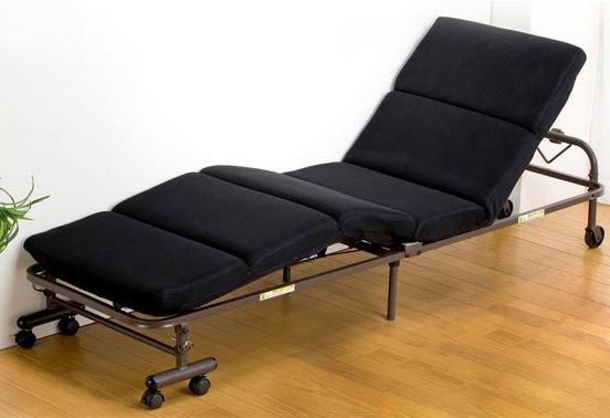 ベッド シングル リクライニング 折りたたみ 脚付き リクライニングベッド 折りたたみベッド 脚付きベッド(代引不可)【送料無料】