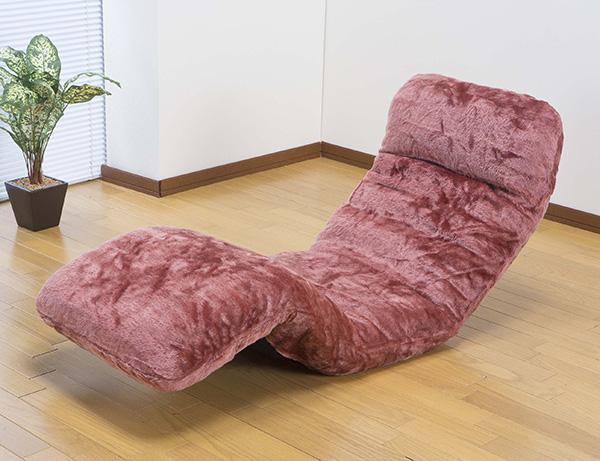 座椅子 ボア洗えるカバー式リクライニングお昼寝座椅子 お昼寝座椅子 14段リクライニング 4つ お昼寝 座椅子(代引不可)【送料無料】