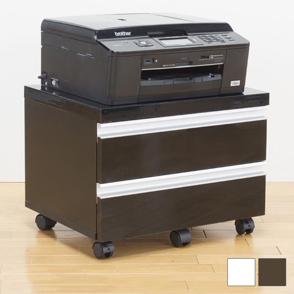 プリンターワゴン 収納ワゴン プリンター置き 引き出し付き 引き出し 引き出し2杯 シンプル オフィス パソコン プリンター 印刷(代引不可)【送料無料】