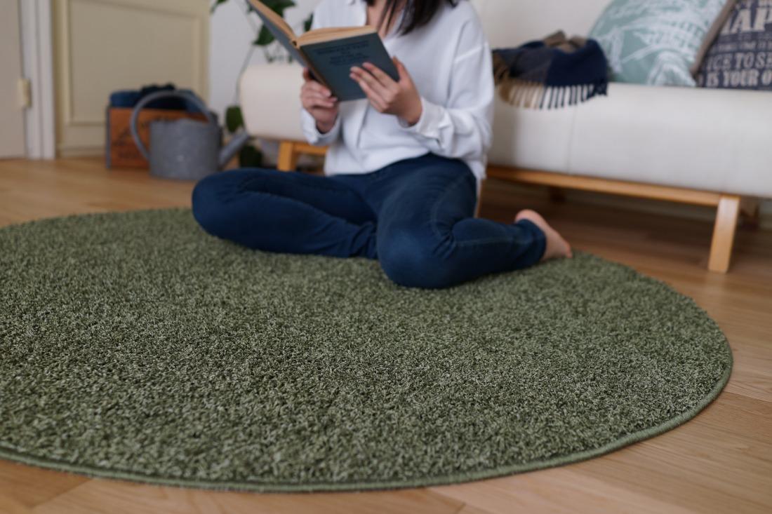 【日本製】 ラグマット TWISTY 150x150cm 円形 ラグ マット カーペット 無地 シンプル 防音 防ダニ 床暖 ホットカーペット(代引不可)【送料無料】