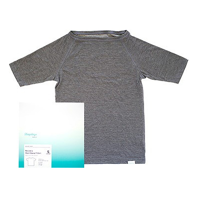 Recovery Short Sleeve T-Shirt Men メンズ 男性用 Tシャツ パジャマ 寝心地 天然コットン 肌触り【送料無料】