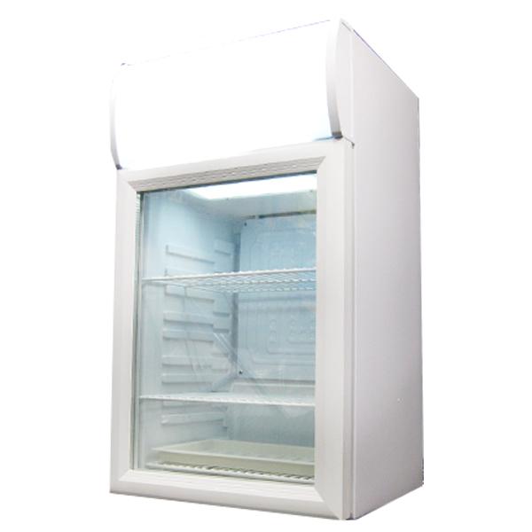業務用冷蔵庫 ホワイト ブラック 冷蔵庫 1ドア 40L 小型 ミニ 一人暮らし 業務用 ディスプレイクーラー 白 黒 透明 ディスプレイ(代引不可)【送料無料】