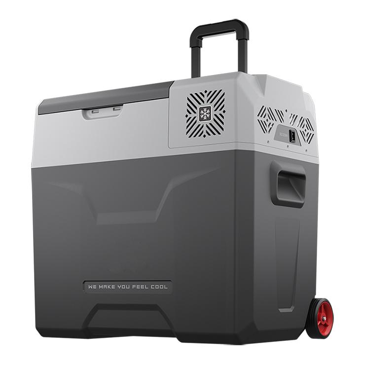ポータブル冷凍冷蔵庫 50L 冷蔵庫 冷凍庫 ポータブル AC DC クーラーBOX クーラーボックス 車載 釣り BBQ アウトドア お出かけ(代引不可)【送料無料】