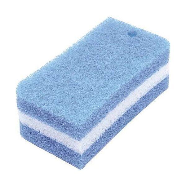 オーエ サッとる ダブルバススポンジ ブルー 約15×7.9×5cm 抗菌【S1】