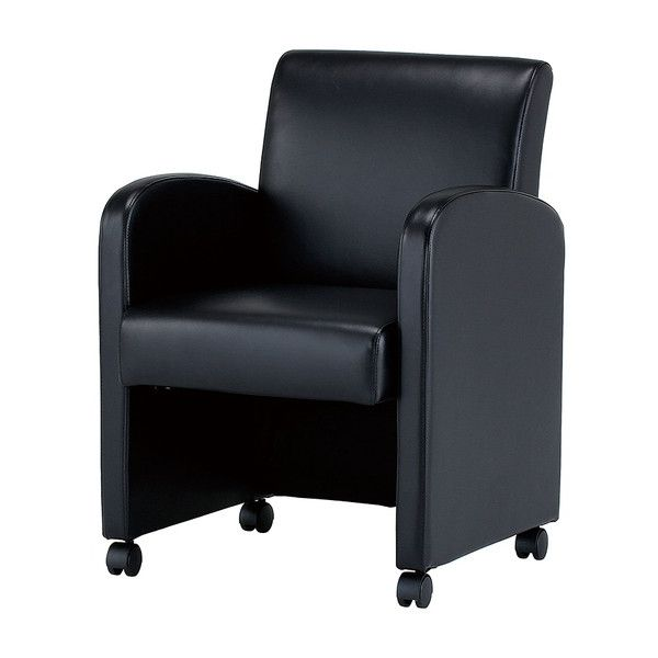 ソファ 1人掛け キャスター付き ソファチェア 1人用 ソファ チェア 椅子(代引不可)【送料無料】