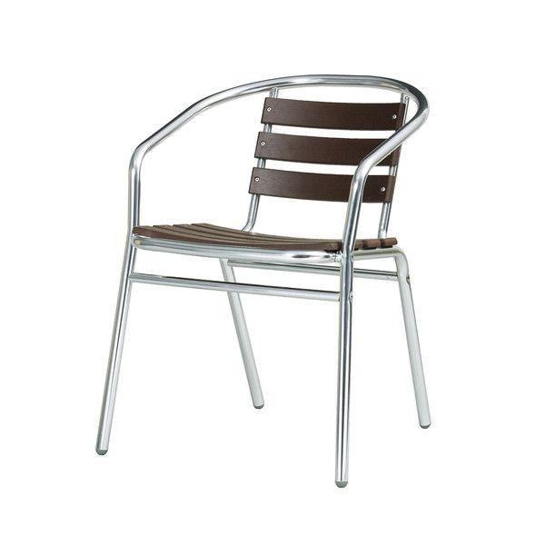 ガーデン チェア アルミ製 クーポス 肘付き 木目調 完成品 ガーデンファニチャー ガーデンチェア 椅子(代引不可)【送料無料】