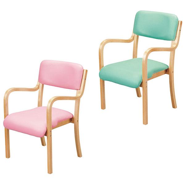 木製チェア 肘付木製チェア フランコ コンパクトサイズ ナチュラルフレーム 椅子 チェア 肘付き(代引不可)【送料無料】【S1】