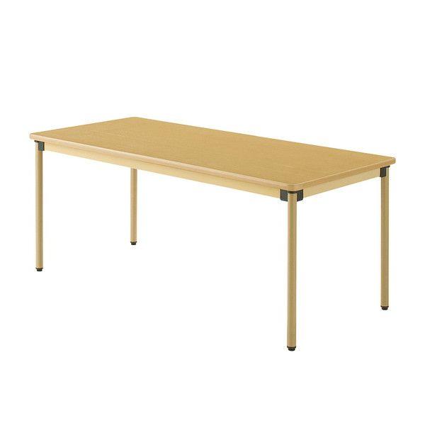 テーブル 180×75cm オールラウンドテーブル 福祉介護用 机 テーブル(代引不可)【送料無料】